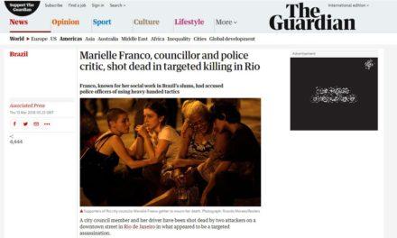 Morte de vereadora no Rio repercute na imprensa internacional