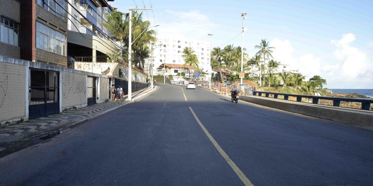 Obras de requalificação da orla vão alterar trânsito em Ondina
