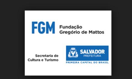 Fundação Gregório de Mattos abre inscrições para edital GREGÓRIOS