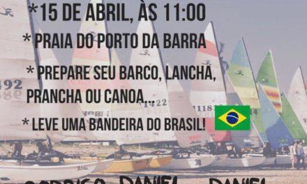 Mobilização da comunidade náutica contra prisão dos velejadores  domingo (15), no Porto da Barra