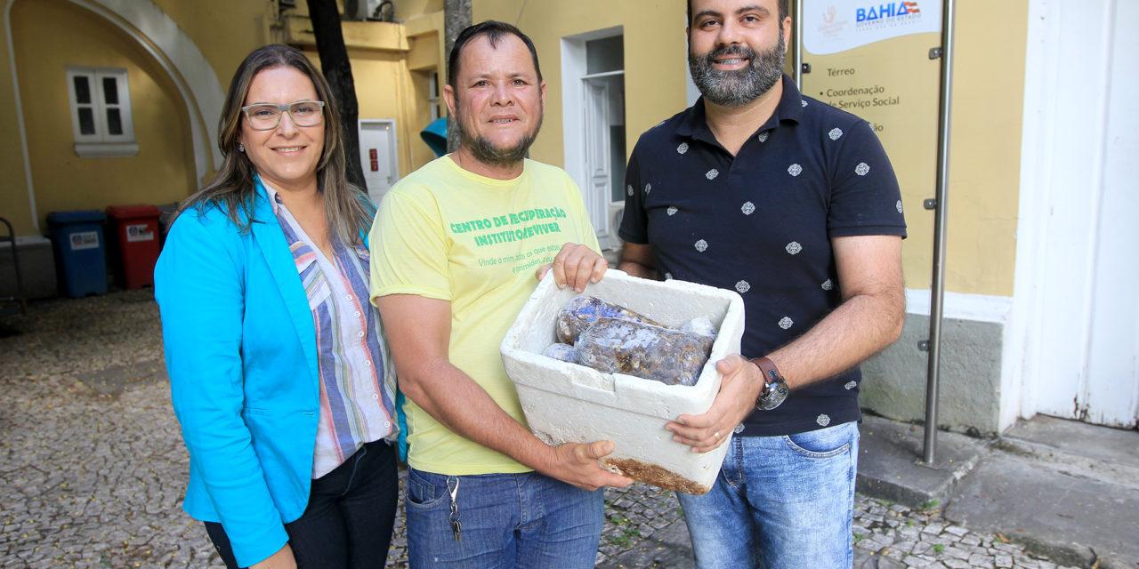 Voluntárias Sociais entregam 120 quilos de marisco para instituições