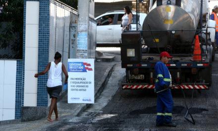 Ruas de Nazaré recebem pavimentação e recuperação de passeios