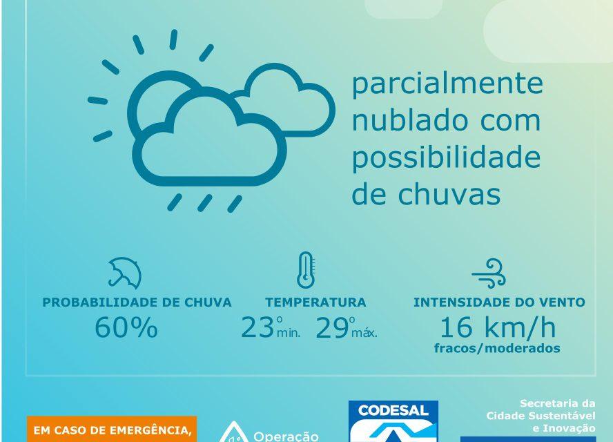 Operação Chuva 2018 desta sexta-feira (11) até as 15h15