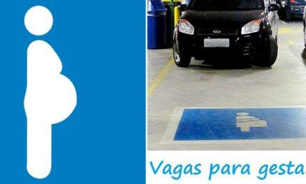 Estacionamento irregular em vaga de gestante começa a ser autuado nesta terça (08)