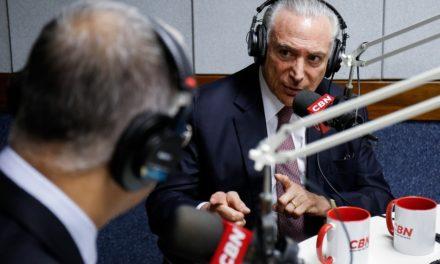 Temer diz não ter medo de ser preso ao deixar o cargo: 'Seria uma indignidade'