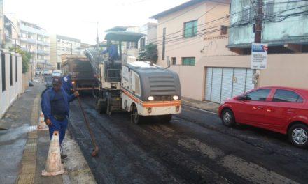 Conder segue com pavimentação em asfalto nas ruas no Centro Antigo