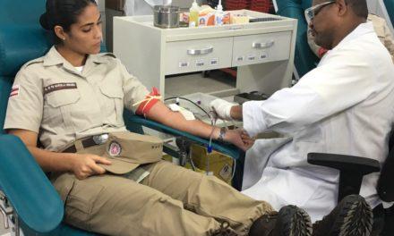 Mais de 600 policiais militares doam sangue no Dia Mundial do Doador