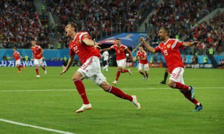 Rússia vence o Egito e garante classificação para as oitavas de final