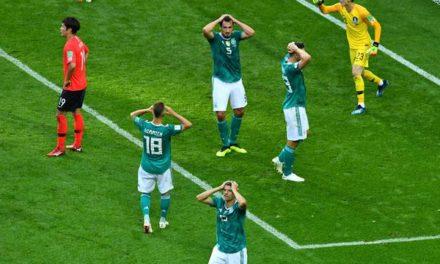 Campeã Alemanha tem apagão, perde para a Coreia e dá adeus à Copa do Mundo na fase de grupos