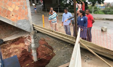 Prefeitura fará sondagem de terreno para iniciar contenção e reparo de cratera