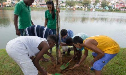Ação promove plantio de 115 mudas de árvores no Dique do Tororó