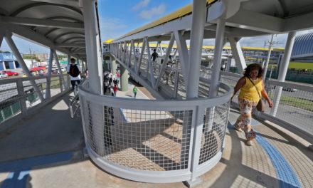 Inaugurada passarela da Estação Mussurunga do metrô