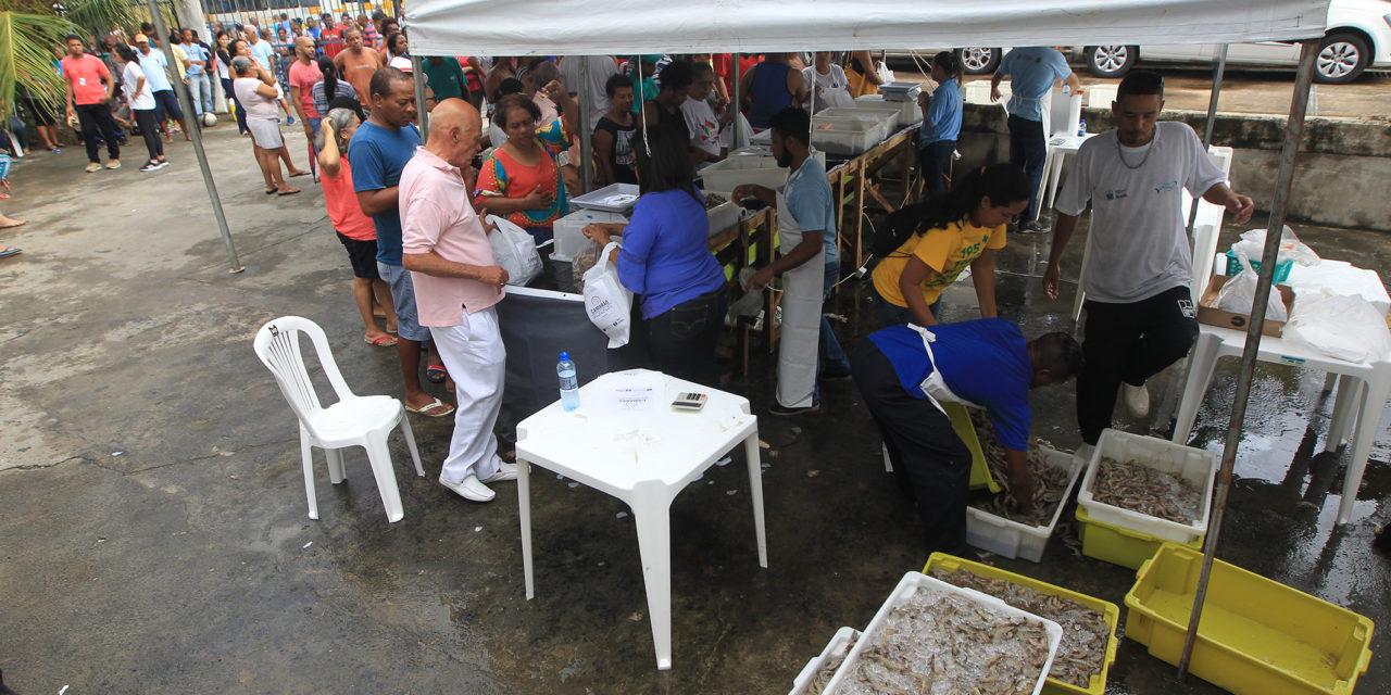 Bahia Pesca comercializa camarão com preço abaixo do valor de mercado