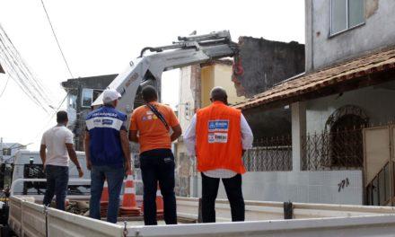 Prefeitura oferece suporte a família de casa que desabou em Plataforma