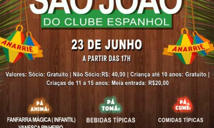 São João do Clube Espanhol dia 23 de junho
