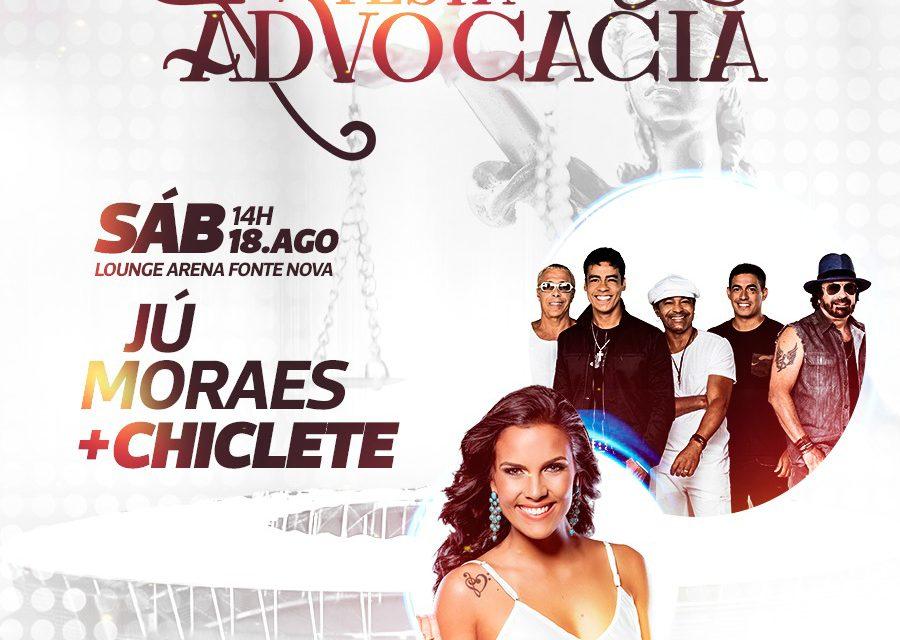 Festa da Advocacia será na Arena Fonte Nova com animação de Chiclete com Banana e Ju Moraes