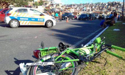 Morte de ciclista por atropelamento congestiona a Avenida Luís Eduardo Magalhães