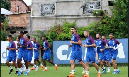 Bahia faz último treino para enfrentar o Cerro em Pituaçu, nesta quarta (25)