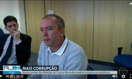 Carlos Miranda relata pagamento de propina envolvendo o governo do RJ e a Oi