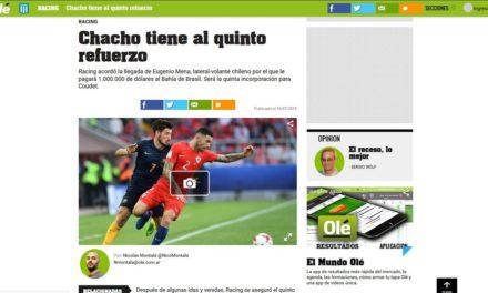 Jornal argentino confirma venda de Mena ao Racing; Bahia não comenta negociação