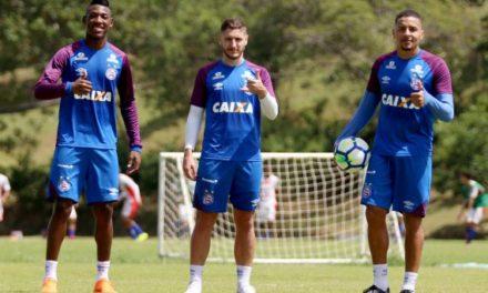 Bahia divulga lista dos jogadores relacionados para duelo com o Palmeiras, em SP