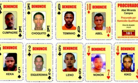 Conheça os novos integrantes do 'Baralho do crime' da SSP-BA