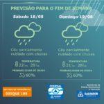 Defesa Civil de Salvador (Codesal) informa a previsão do tempo para este fim de semana