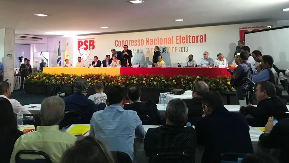 Em convenção, PSB decide não dar apoio formal a nenhum candidato na eleição para presidente