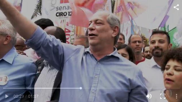 Ciro Gomes aponta divisão na esquerda