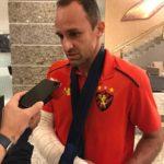Magrão relata tristeza por deixar Sport em momento delicado, após confirmação de fratura