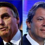 Datafolha para presidente, votos válidos: Bolsonaro, 59%; Haddad, 41%