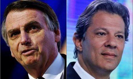 Ibope para presidente, votos válidos: Bolsonaro, 59%; Haddad, 41%