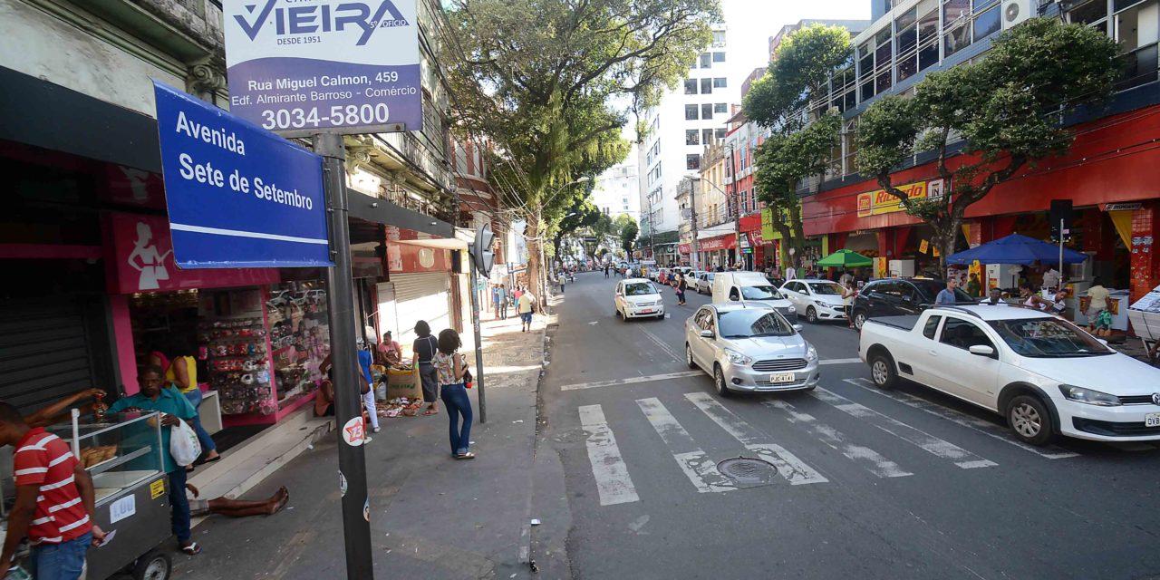 Revitalização da Avenida Sete é aprovada por trabalhadores e frequentadores